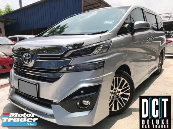 2016 TOYOTA VELLFIRE 2.4Z G EDITION FULL PACKAGE FULL SERVICE RECORD WARRANTY UNTIL 2022 ONE OWNER LIKE NEW CAR CONDITION