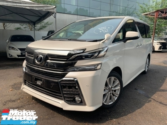 2016 TOYOTA VELLFIRE 2.5 ZA 2 POWER DOOR 8 SEATER UNREG