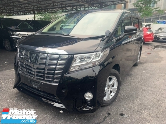 2016 TOYOTA ALPHARD 2.5 X SPEC 2 POWER DOOR 8 SEATER UNREG