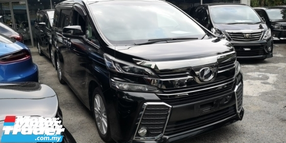 2015 TOYOTA VELLFIRE 2.5 Z / 8 SEATER / 2 PWR DOOR / BLACK INTERIOR / READY OFFER STOCK