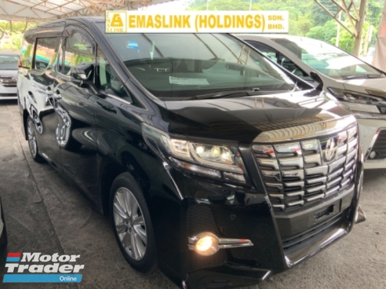 2016 TOYOTA ALPHARD 2.5 SA sunroof surround camera power boot keyless push start unregistered