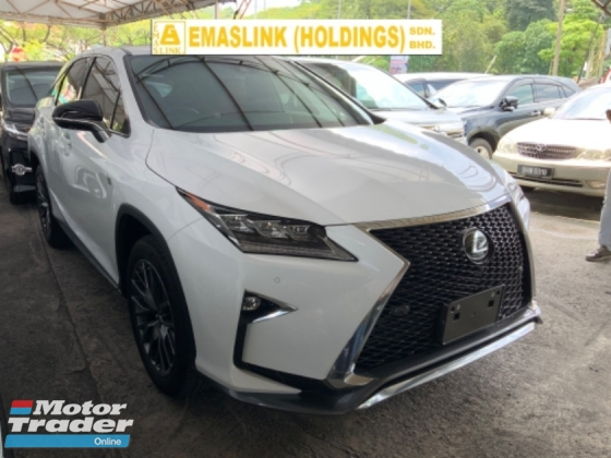 2017 LEXUS RX 200t F sport surround camera precrash system 3 LED 2 memory seats unregistered