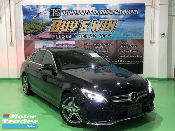 2015 MERCEDES-BENZ C-CLASS 2015 MERCEDES C200 2.0 AMG SPEC ORIGINAL FROM JAPAN UNREG CAR SELLING PRICE RM 192000.00