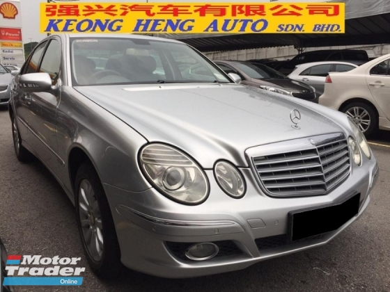2008 MERCEDES-BENZ E-CLASS E200 Facelift CKD Actual Year Make