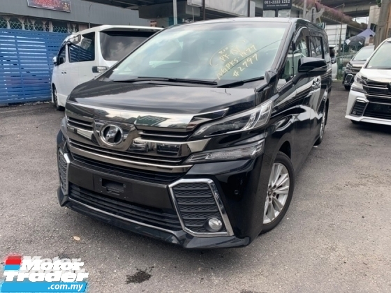 2015 TOYOTA VELLFIRE 2.5 ZA PRE CRASH 2 POWER DOOR 7 SEATER UNREG