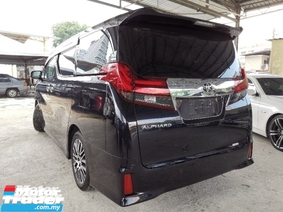 2015 TOYOTA ALPHARD 2.5 SC PRE CRASH/ROOF MONITOR UNREG