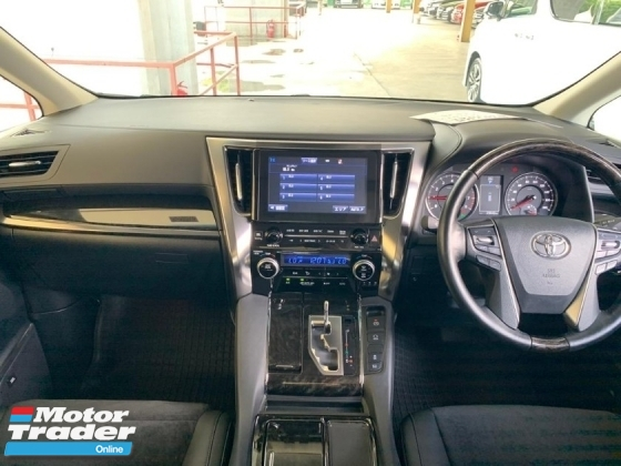 2017 TOYOTA VELLFIRE 2.5ZG FULLY LOADED 0%SST JBL SOUND HOME THEATER TWIN SUNROOF PRE-CRASH PILOT SEAT SURROUND CAMERA LOW INTEREST