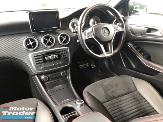 2014 MERCEDES-BENZ A-CLASS A180 AMG Sport Edition Turbocharged Distronic Plus Pre Crash Bucket Seat Multi Function Paddle Shift Steering Daytime Running LED Xenon Parktronic Reverse Camera Bluetooth Connectivity Unreg