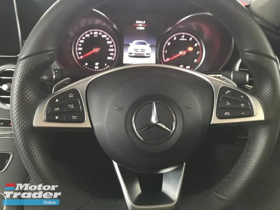 2018 MERCEDES-BENZ C-CLASS C300 COUPE AMG LINE PLUS PANORAMIC ROOF MEMORY SEAT POWER BOOTH 2018 UNREG