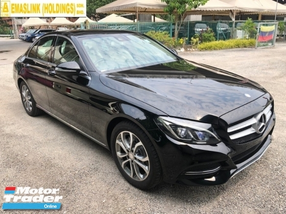 2015 MERCEDES-BENZ C-CLASS C200 Sport Premium 2.0 Turbocharged Panoramic Roof Automatic Power Boot 2 Memory Bucket Seats Adaptive Hi-Beam LED Multi Media Touch Pad Interface Bluetooth Connectivity Unreg