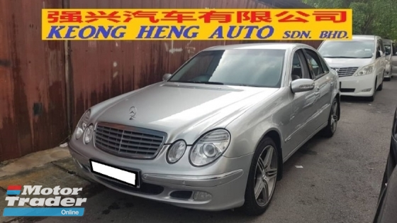 2005 MERCEDES-BENZ E-CLASS E200K W211 (A) REG 2005, LOCAL MODEL, CAREFUL OWNER, 100% ACCIDENT FREE, MILEAGE DONE 128K KM, 18\