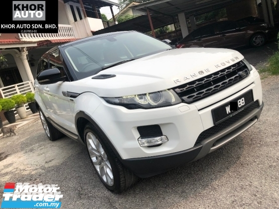 2013 LAND ROVER EVOQUE Si4 Dynamic 2.0 (A) LOCAL SPEC