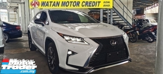 2017 LEXUS RX 200T F SPORT FULLSPEC.UNREG.TRUE YEAR CAN PROVE.HALF SST.POWER BOOT.3 LED.RED LEATHER.MEMORY SEA
