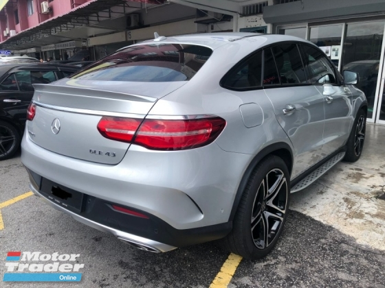 2016 MERCEDES-BENZ GLE GLE43 AMG Coupe Original 3,000Km Mileage 3.0 Bi-Turbo Fully Loaded Fully Under Warranty by Mercedes Benz Malaysia Until 2021 Panoramic Roof Harman Kardon 360 Surround Camera Power Boot Full Service Records