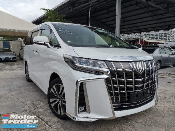 2018 TOYOTA ALPHARD 2.5 SC 3EYE LED HEADLIGHT/SUNROOF/FULL LEATHER/PRE CRASH UNREG