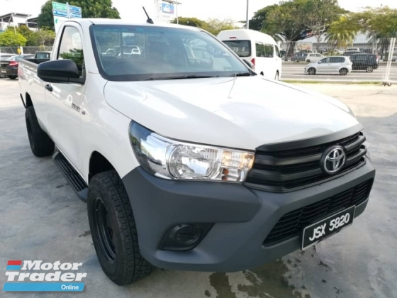 2018 TOYOTA HILUX SINGLE CAB 2.4 VNT 4WD (M) - One Careful Owner