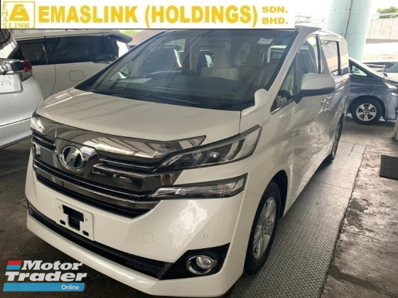 2015 TOYOTA VELLFIRE 2.5X 0%SST UNREGISTER NEW ARRIVAL CHEAPEST IN TOWN NEW MODEL VELLFIRE