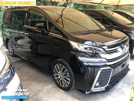 2016 TOYOTA VELLFIRE 2.5 ZG 360 Surround Camera Sun Roof Moon Roof Pilot Memory Seat Automatic Power Boot 2 Power Doors Intelligent Bi LED Light Smart Entry 3 Zone Climate Auto Cruise Control Bluetooth 9 Air Bags Unreg