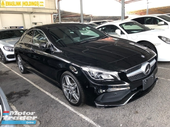 2017 MERCEDES-BENZ CLA CLA200 CLA180 AMG Turbocharged NEW FACELIFT Distronic Plus Pre-Crash Memory Bucket Seat Multi Function Paddle Shift Steering Intelligent LED Smart Entry Push Start Button Ambient Light Sport Plus Comfort Drive Select Reverse Camera Unreg