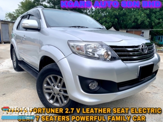 2015 TOYOTA FORTUNER 2.7V 7 SEATER LEATHER SEAT ELECTRIC SEAT