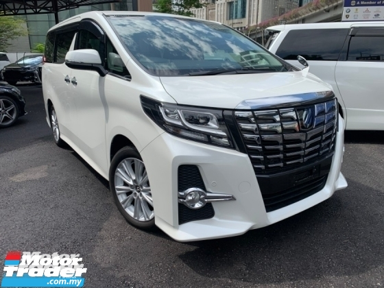 2016 TOYOTA ALPHARD 2.5 SA 2 POWER DOOR 8 SEATER UNREG 1 YEAR WARRANTY