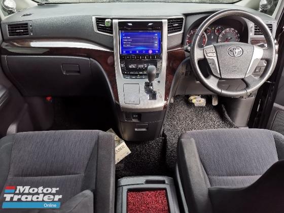 2014 TOYOTA ALPHARD 2.4 S TYPE BLACK 7 SEATS/2 POWER DOOR/POWER BOOT 2014