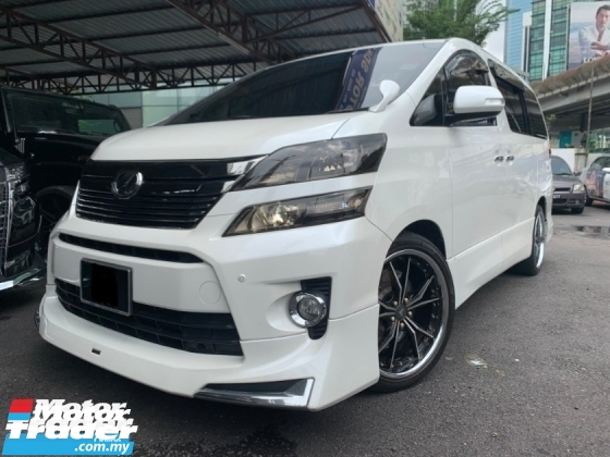 2012 TOYOTA VELLFIRE 2.4 Z MODELLISTA (TRUE YEAR)2 POWER DOOR 7 SEATER TIP TOP CONDITION