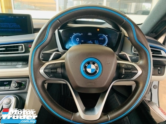 2016 BMW I8 1.5 Plug In Hybrid Unregister 36xHp Harman Kardon Sound System Surrounding Camera Butterfly Door Low Maintenance Car SST Inclusive Price Nego Until Let Go