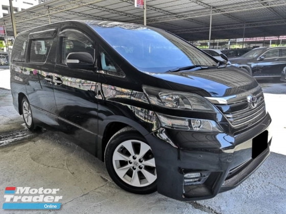 2009 TOYOTA VELLFIRE Toyota Vellfire 2.4 ZP 2 POWER DOOR POWER BOOT ONE OWNER