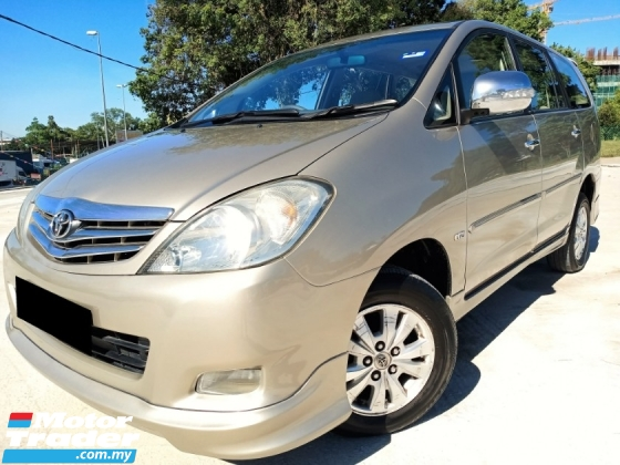 2010 TOYOTA INNOVA  2.0 G FACELIFT (A) LOW MILEAGE