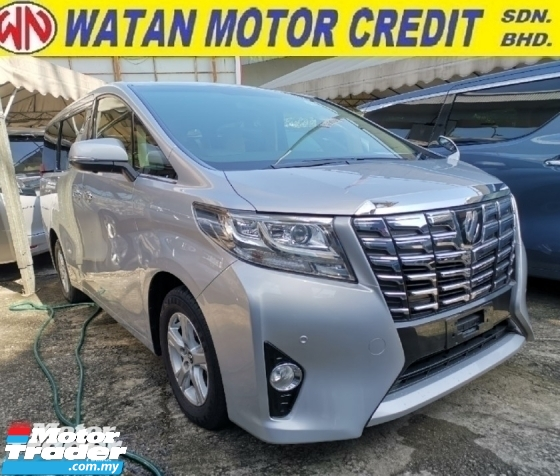 2015 TOYOTA ALPHARD 2.5 X 8 Seater P/Boot 4Cam Unregister 1 YEAR WARRANTY