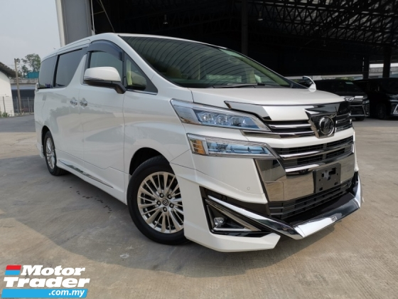2018 TOYOTA VELLFIRE 3.5 VL SUNROOF WHITE NFL MODELISTA SUNROOF DEMO CAR MILEAGE OFFER UNREG