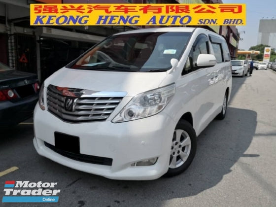 2008 TOYOTA ALPHARD 2.4 ANH20 New Model TRUE YEAR MADE 2008 Push Start 2 Power Door 7 Seater 2012
