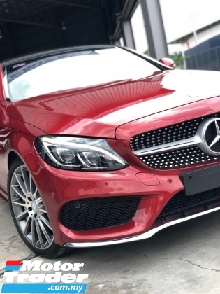 2016 MERCEDES-BENZ C-CLASS C200 SPECIAL LIMITED COUPE AMG SPORT 2.0 (A) + UNREGISTERED PREMIUM UK SPECS + RED METALLIC COLOR