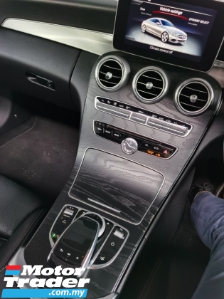 2016 MERCEDES-BENZ C-CLASS C300 AMG COUPE BLACK EDITION PANORAMIC ROOF BURMESTER 2016 UNREG