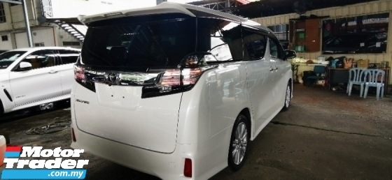 2015 TOYOTA VELLFIRE 2.4 ZA Z UNREG.HALF SST.TRUE YEAR MADE.7 SEAT.3 POWER DRS N BOOT.360 SURROUND CAMERA.BODYKIT.LED