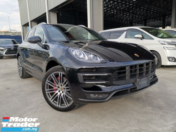 2015 PORSCHE MACAN TURBO 3.6 RED LEATHER SEAT SPORTCHRONO EXHAUST PASM BLACK OFFER UNREG