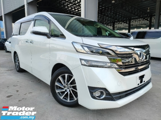 2015 TOYOTA VELLFIRE 2015 Toyota Vellfire 2.5 V Spec Power Boot 7 Seater 2 Power Door Memory Seat vacuum Boot Unregister for sale
