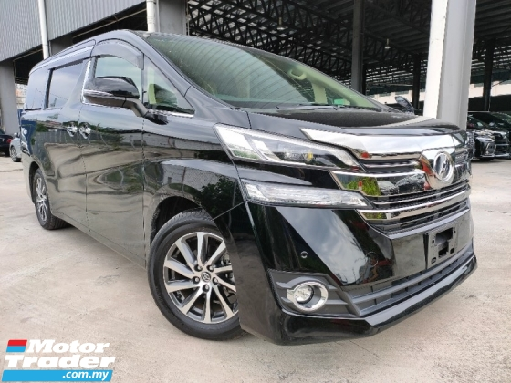 2016 TOYOTA VELLFIRE 2016 Toyota Vellfire 2.5 V Spec Demo Car 2 Power Door 7 Seater Door Blind Vacuum Boot Unregister for sale