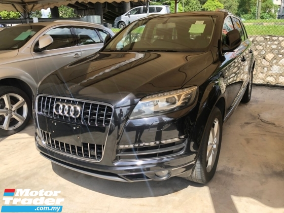 2012 AUDI Q7 3.0 TFSi Petrol 333hp Quattro 8 Speed Smart Entry Push Start Button MMi-3 Automatic Power Boot BOSE Surround System Bi-Xenon Lights Paddle Shift Steering Reverse Camera Bluetooth Connectivity Unreg