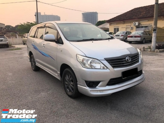 2013 TOYOTA INNOVA 2.0E (MT)FULL BODY KIT FREE 1YEAR WARRANTY GOOD CONDITION LOW MLEAGE LIKE NEW ACCIDENT FREE AND 1 CAREFUL OWNER