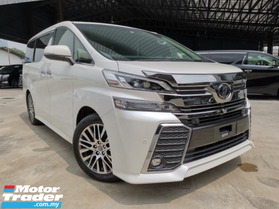 2016 TOYOTA VELLFIRE 2.5 ZG JBL HOMETHEATER 4CAM WHITE OFFER UNREG