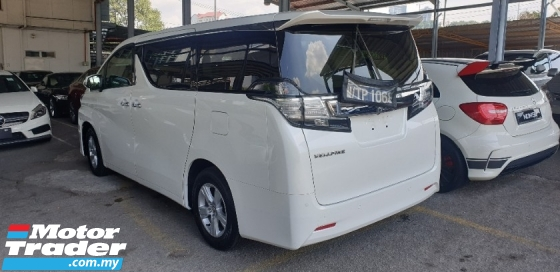 2015 TOYOTA VELLFIRE 2.5X NO HIDDEN CHARGES F.O.C POWER BOOT AND SURROUNDING CAMERA