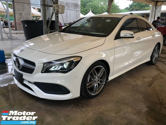 2017 MERCEDES-BENZ CLA CLA180 AMG Turbocharged New Facelift Distronic-Plus Pre-Crash Adaptive Intelligent Full-LED Lights Memory Bucket Seat Multi Function Paddle Shift Steering Smart Entry Push Start Button Sport Comfort Drive Select Neon-Ambient Reverse Camera Bluetooth Unreg