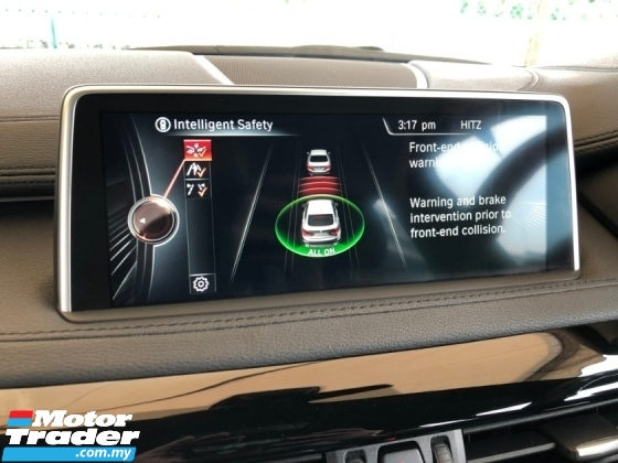 2015 BMW X6 M Sport xDrive 3.0 Twin-Turbo Pre-Crash Pedestrian Alert Lane Departure Alert Adaptive Intelligent Full-LED Lights Memory Seat Automatic Power Boot Sun Roof Sport PLUS Comfort Drive Select Multi Function Paddle Shift Steering Bluetooth Unreg