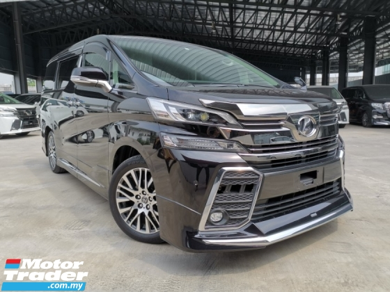 2015 TOYOTA VELLFIRE 2.5 ZG SUNROOF MODELISTA BODYKIT BLACK OFFER UNREG