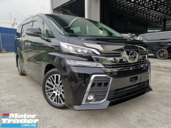 2015 TOYOTA VELLFIRE 2.5 ZG JBL SOUND SYSTEM PRECRASH BLACK OFFER UNREG