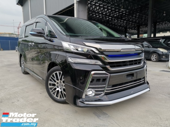 2015 TOYOTA VELLFIRE 2.5 ZG FULL MODELISTA KIT FRONT GRILL SUNROOF BLACK OFFER UNREG