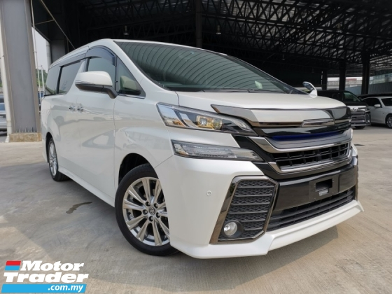 2016 TOYOTA VELLFIRE 2.5 Z ZA Golden Eyes WHITE MODELISTA GRILL OFFER UNREG