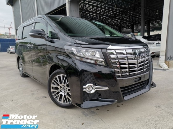 2016 TOYOTA ALPHARD 2.5 SC PRECRASH BLACK OFFER UNREG